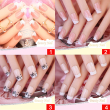 24 Pcs/set Nail Tips Acrylic False Nail 32 Styles Mixed For Choose False French Nail Art Tips Half Nail Tips Free Glue Manicure