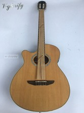 vegas left hand natural color acoustic-electric guitar free bag free shipping(China)