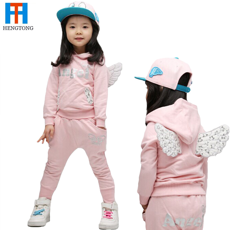 Baby girls boutique clothing sets 2017 Enfants set cute angle baby boy girls Tracksuits clothing set children suit kids clothes<br><br>Aliexpress