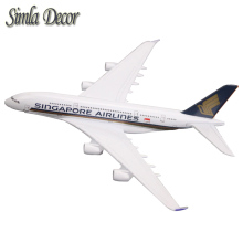 16cm Alloy Metal Singapore A380 Airlines Model Airbus 380 Airways Plane Model Stand Aircraft Party Gifts(China)