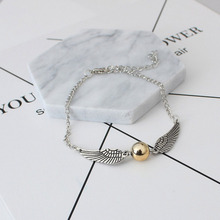 Vintage Charm Bracelets Retro Tone Bangles Angel Wings Bracelet Women Fashion Snitch Men Jewelry