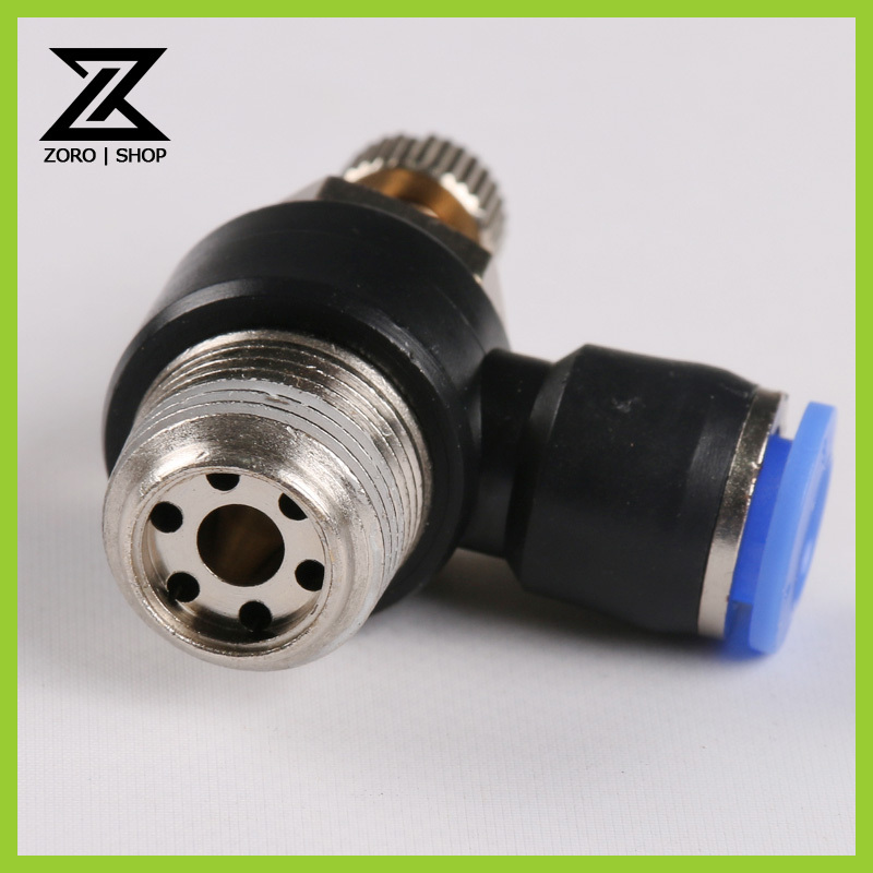 Tube 8mm Thread G3/8 Pneumatic throttle valve pneumatically Quick Connector exhaust valve SL8-03<br><br>Aliexpress