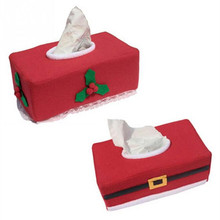 Merry Christmas Tissue Box Cover Christmas Home Decoration Creative Napkin Holder 2 Styles for Choice