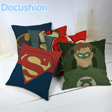 Cartoon Style Fashion Decorative Cushions Marvel Heroes Printed Throw Pillows Car Home Decor Cushion Decor Cojines