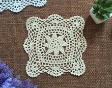 HOT cotton placemat cup Holder drink coaster kitchen accessories handmade table place mat cloth lace Crochet doily mug tea pad