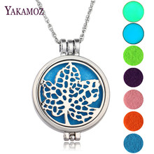Charms Maple Leaf Aromatherapy Diffuser Locket Pendant Necklace Perfume Necklace Glowing In The Dark Jewelry Best Friends Gift
