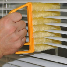 7-Blades Shutters Cleaning Brush Window Blinds Brush Air Conditioning Duster Cleaner Shutter Dust Cleaning Brush Household Tool