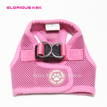 GLORIOUS KEK Dog Harness Adjustable Pet Cat Harness Small Dog Mesh Breathable Outdoor Walking Vest Harness For Chihuahua(China)