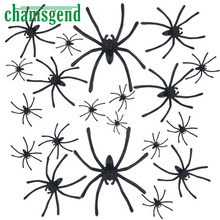 CHAMSGEND Modern 20pcs about4.5cmx5cm Halloween Plastic Black Spider Realistic Joking Toys home Decoration cheap big sale Sep30