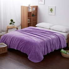 Solid Purple Flannel Blanket Soft and Comfortable Summer Blankets for Beds Design for Teenagers and Grown-ups