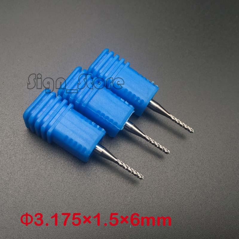 10pcs/lot Tungsten Corn PCB milling bits end mill, Cutting Engraving CNC router bits PCB Mould plastic 1/8 3.175*1.5*6mm<br><br>Aliexpress
