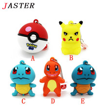 JASTER New Pokemon Pikachu pendrive 4gb 8gb 16gb 32gb keychain cartoon squirtle charizard usb flash drive pendriver gifts - LOGOMAKER Store store