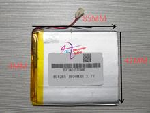 best battery brand 3.7V polymer lithium battery 404285 044285 1800mah MP5 mobile power LED GPS products(China)