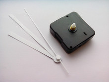 50PCS SWEEP CLOCK MOVEMENT QUARTZ SHORT SPINDLE WITH WHITE HANDS(China)