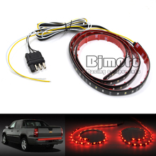 "LPL-037 60""/1.5m Flexible Car Truck LED Tailgate Light Bar Running/Brake/Reverse/Signal/Rear Strip Light Lamp Red and White 12V"