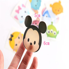 1Set Cartoon TSUM Mini Figures Minnie Donald Duck Winnie Dumbo Sticker Cartoon Decoration Tticker Children Gift Accessories