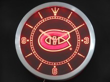 nc0540-r Montreal Canadiens Neon Sign LED Wall Clock