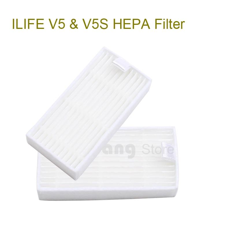 ILIFE V5 &amp; V5S Original HEPA filter 2 pcs, Robot vacuum cleaner parts<br><br>Aliexpress
