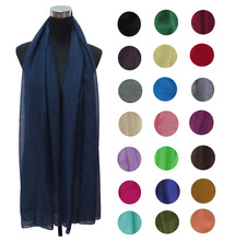 Plain Solid Color Women's Oversize Maxi Scarf Shawl Muslim Hijab Head Wrap, Free Shipping(China)