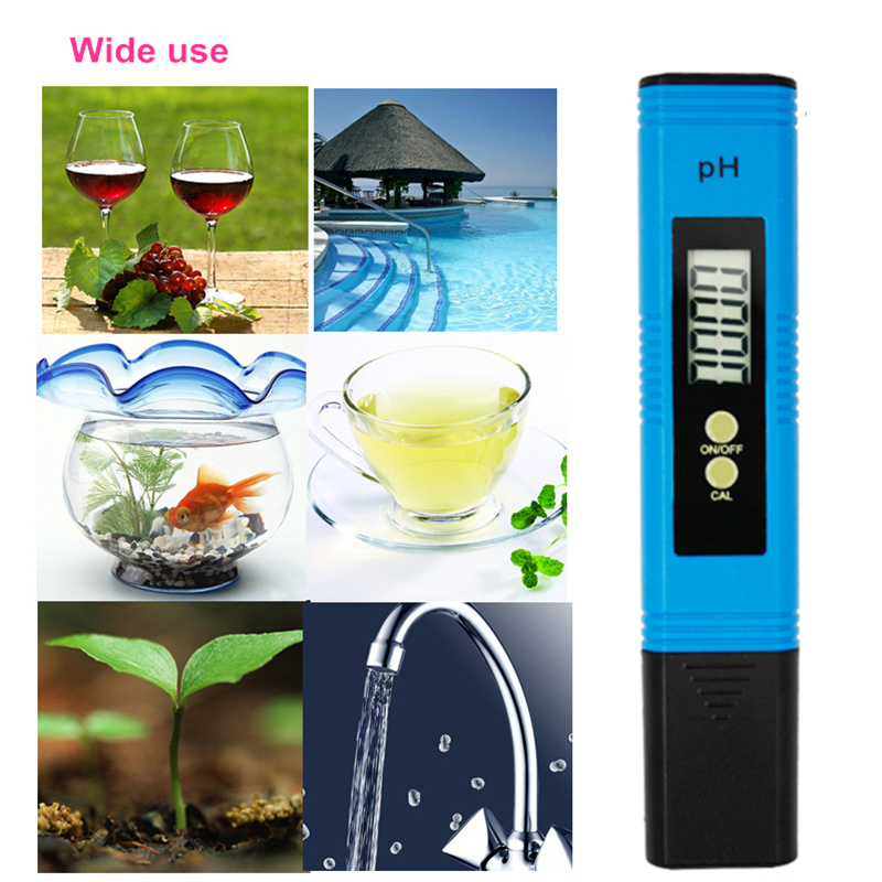 by dhl/fedex 100pcs/lot Pocket Pen Water PH Meter Digital Accuracy 0.01 Automatic Calibration Tester for Aquarium Pool 40%off 8