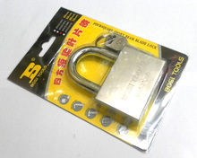 Free shipping BOSI 60mm brass padlock master lock with 4pc keys