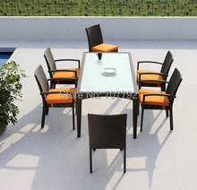 2015 7-Piece Outdoor Furniture Square Patio Garden Dining Set