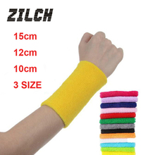 3SIZE New Style 11 Color Wrist Sweatband Support Terry Cloth Cotton Protection Sweat Band Wristband Sport Yoga Running Women Men