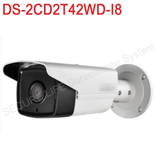 In stock Free shipping DS-2CD2T42WD-I8 English version 4MP EXIR Network Bullet IP security Camera POE, 80m IR, 120dB WDR, H.264+