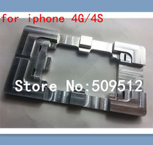 100% Metal for iPhone 4G/4S Glueing Repair LCD Outer Glass Mould Mold LCD TOUCH repair holder Free Shipping