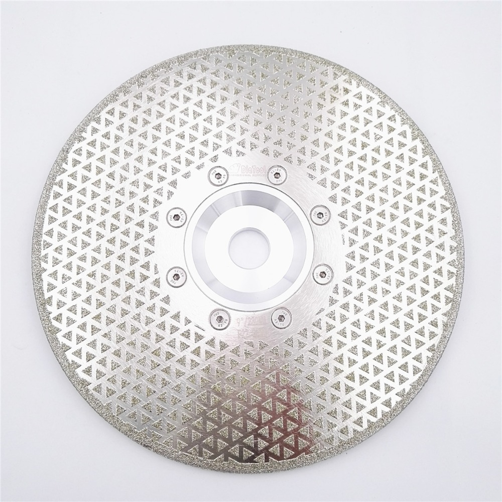 DIATOOL 9/230mm Electroplated Diamond Disk Cutting &amp; Grinding Discs For Marble &amp;  Granite With 22.23 Flange, Diamond Blade<br>