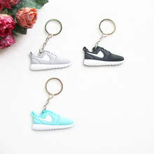 Mini Silicone Roshe Run Shoes Keychain Bag Charm Woman Men Kids Key Ring Gifts Key Holder Accessories Jordan Sneaker Key Chain(China)