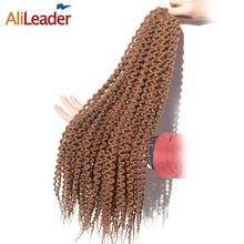 AliLeader Products Island Twist Freetress Hair For Crochet Braids 12 18 22 Inch Crochet Synthetic Kanekalon Hair Blonde Brown