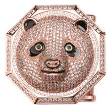 Belt Accessories China National Treasure Panda Design Pin Buckle Type Belt Buckle with Natural Zircon Patented Product LB(China)