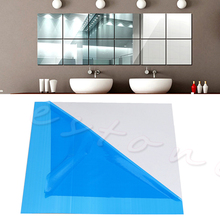 New cute wall sticker 16X Self-adhesive Decorative Mirrors Tiles Mirror Wall Stickers Mirror Decor  Mosaic Decor 15*15CM