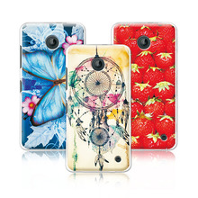 Women Girls' Beautiful Floral Painting Case For Nokia Lumia 630, Colorful Flowers Skin Back Cover For Nokia Lumia 630 +Pen Gift