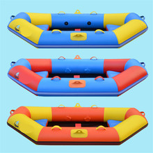 2.4M  inflatable surfing boat laminated  wear-resistant pvc boat rowing boat inflatables kayak for 2person