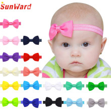 2016 Multicolor Bowknot Mini Headbands girl hair accessories Girl headband cute hair band newborn floral headband LS25