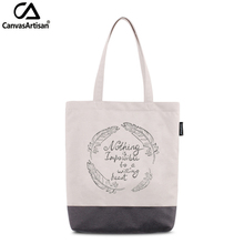 Canvasartisan women's tote shoulder bag waterproof stylish printed female handbag shopping travel daily book storage bags(China)