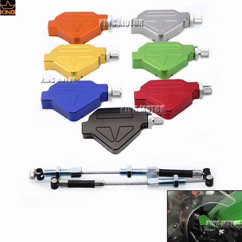 For KAWASAKI KLR 650 KLR650 2006-2015 Motorcycle Accessories Aluminum Stunt Clutch Easy Pull Cable System Seven colors<br><br>Aliexpress