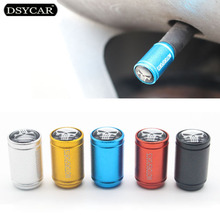DSYCAR 4Pcs/lot Universal Skull Head Car Moto Bike Tire Wheel Valve Cap Dust covers Car Styling for Fiat Audi Ford Bmw toyota VW(China)