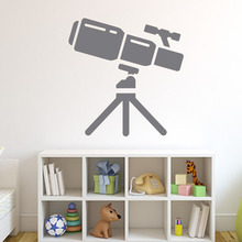 Kids Bedroom Space Telescope Wall Decal Vinyl Art Sticker Home Decor Removable Waterproof 2015 New Design