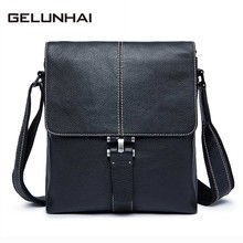 2017 Genuine Leather Men Bag Fashion Male Messenger Bags Men's Small Briefcase Man Casual Crossbody Shoulder Handbag 8835