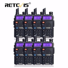 8pcs Portable Walkie Talkie Retevis RT5R 5W VHF UHF Dual Band  Walky Talky Professional Handy 2 Way Radio Communicator RT-5R