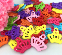 Free shipping 100pcs Mixed Plastic Mini Princess Crown For Craft/Jewel/Embellishment/scrapbooking