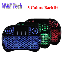 Russian English 2.4G mini i8+ backlight gaming Wireless Keyboard Backlit Touch Pad air mouse for Laptop PC Smart tv box