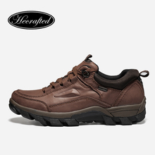 Big size Vintage Full Genuine leather men boots #WZDX