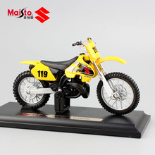 1/18 scale mini Children metal diecast motorcycle model racing No.119 SUZUKI RM250 dirt bikes Bicycle cars Toys Replica for boys
