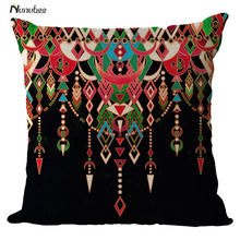 "18""Cushion Cover Nordic PillowCase Cotton Linen Flower Round 3D Board Cushion Cover Home Decorative Pillowcases(China)"