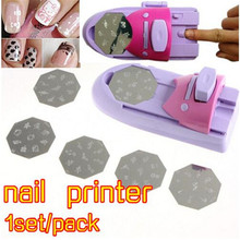 Lower Price 1set/pack Nail Art Printer Diy Color Acrylic Paint Tip DIY Pattern Printing Manicure Machine polish Stamper Tool Set(China)