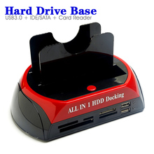 External USB3.0 Hard Drive Dock Base 2.5'' 3.5'' SATA IDE All In One Card Reader Hard Disk HDD Docking 875U3ISC(China)